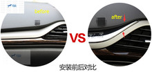 For Ford Mondeo 2014 2015 / Fusion 2014 2015 The Copilot Instrument Panel Decoration Cover Trim 1 Pcs(China)