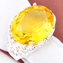 2PCS Top Jewelry Newest Special Oval Fire Citrine Gems Rings USA Russia Canada Australia Wedding Pendants