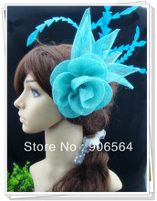 Free shipping 9 color avaliable sinamay fascinator hair accessories /cocktail hats/party hats 6pcs/lot  MSF244