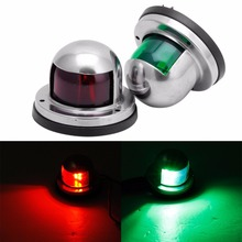One Pair Marine Boat Yacht Light 12V Stainless Steel LED Bow Navigation Lights(China)