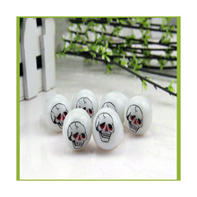 LeadingStar Fun Trick Toy Kid's Ghost / Skull / Pumkin / Eye-Ball Finger Rings Flashing LED Light up Toys for Halloween Party