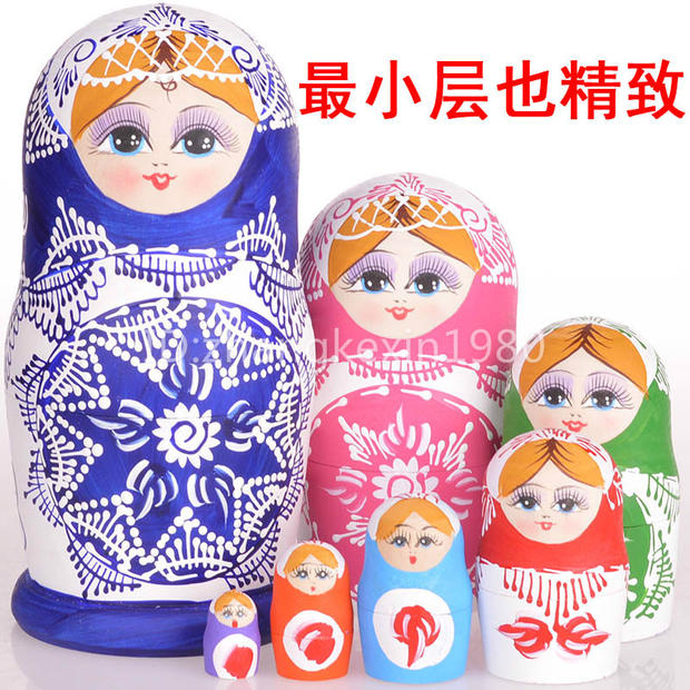 7Pcs Super Beautiful Doll Wooden Toys Matryoshka Doll Kids Gift Russian Nesting Dolls Baby Toy Girl Doll<br><br>Aliexpress