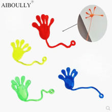 2Pcs/lot 4 Color Sticky Toy Novelty Item For Joy Sticky hands PARTY FAVORS GIFT BAGS Funny Kid Toys