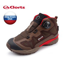 (Shipped From USA Warehouse)2017 Clorts Womens Hiking Boots Outdoor Sports Shoes Boa Fast Lacing PU For Female 3B025D