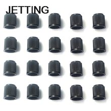 JETTING High Quality 100pcs/lot Black Plastic Dust Valve Caps Bike Car Wheel Tyre Van Covers Seal Air Motorcycle Wholesales