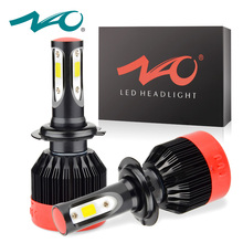 NAO H4 H7 H11 H1 9005 9006 H27 H8 H9 9004 9012 COB LED Headlight 72W 8400LM Car LED Headlights Bulb Auto Fog Light 6000K 12V K2(China)