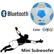 Bluetooth  Sports speaker PU Leather mini Football subwoofer Strong Bass 600mah battery portable Music audio player roly poly