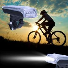 4-LED Bike Bicycle Solar Powered Waterproof Lights USB 2.0 Rechargeable Light Lamp Cycling Bike Head Light Bike Accessories(China)
