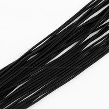2mm Elastic Cord with Fibre Outside and Rubber Inside Black DIY Jewelry Findings About 100m/bundle