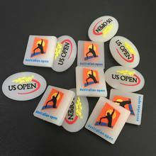 Free Shipping Free Shipping 5pcs/lot US OPEN/AU open logo Tennis Racket Vibration Dampener/tennis racquet(China)