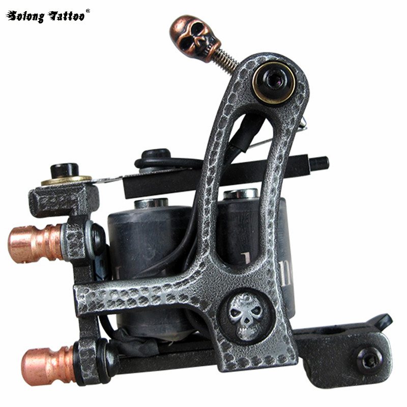 New Tattoo Machine Handmade Taty Coil Gun 10 Wraps Supplies MZZA05-4(China (Mainland))