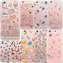 Super Cute Doctor Nurse Diamond Perfume Phone Case Coque for iPhone 5S 6 7 6Plus SE Tooth Hamburger Donuts Soft TPU Clear Cover