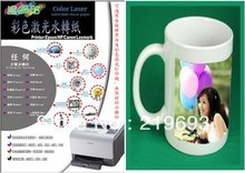 No shipping cost, white color background A4 size laser paper water transfer printing