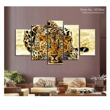 DM 5D diy diamond painting animal tiger pictures of rhinestones 5pcs square cross stitch needlework home decorative gifts K213