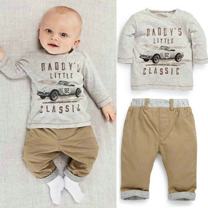 2pcs Kid Children Baby Boy Long Sleeve Top+ Pants Set Outfit Spring 2017 Sring Clothes<br><br>Aliexpress