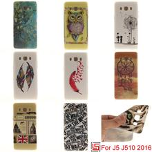 Best Fashion Cheap Ultra Thin TPU Silicone Soft Phone Cell Case fundas Cover For Samsung Galaxy J5 2016 J510 J 5 510 Flower