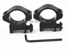 20 mm slot 25.4 mm pore size Hunting Rifle Optical Sight Bracket holder support Scope Mount Ring weaver rail(China)