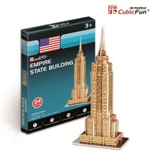CubicFun 3D puzzle paper model creative gift Children DIY toy Mini The Empire State Building world's great architecture S3003