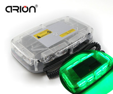 CIRION 36 LED Car Roof Flashing Strobe Emergency Light Bar Truck Police Warning Lights Lamp Green Magnets base 36W
