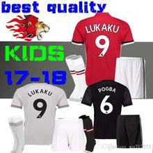 Free shipping Lukaku 3 children ibrahimovic manchesteer football jerseys uniteds soccer jersey 2017 2018 football jersey(China)