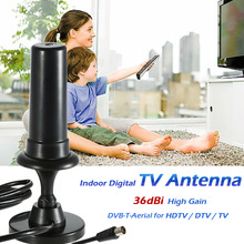 W36 Indoor Digital TV Antenna 36dBi High Gain Full HD 1080p VHF / UHF DVB-T-Aerial IEC Connector for HDTV / DTV/TV IEC Connector(China)