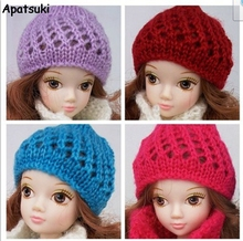 "Doll Accessories Warm Winter Headwear Hairwear Woven Knitting Hat for Barbie Dollhouse For 1/6 11"" BJD Doll Kids Gift(China)"