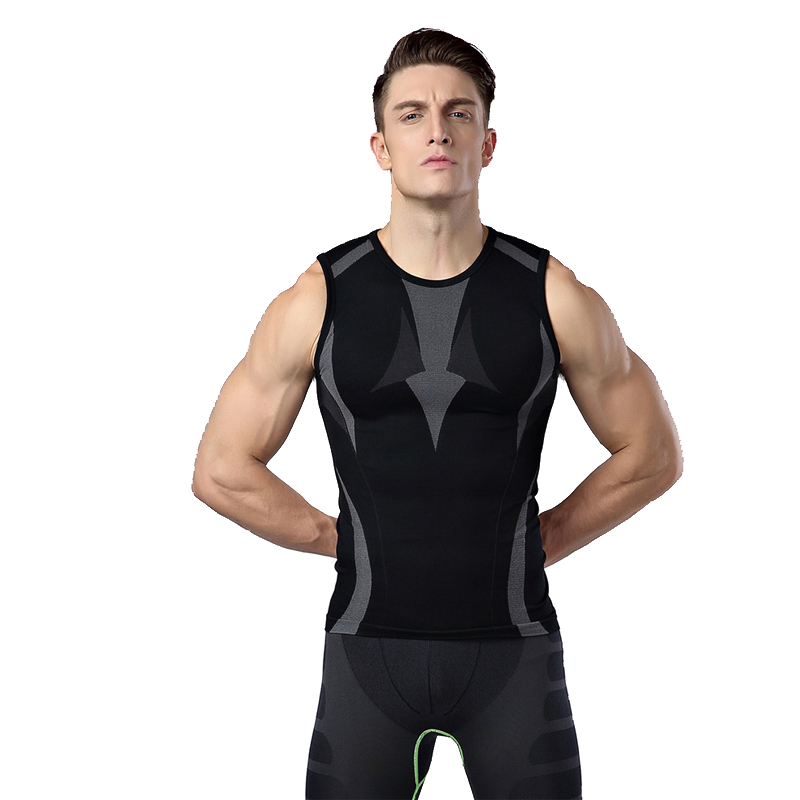 Mens Gym Tank Top Compression Base Layer Bicycle Cycling Jersey Cycle Vest Sleeveless Underwear Quick Dry Sports wear Shirts