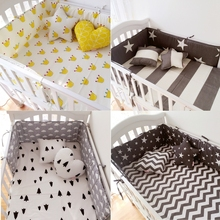 Muslinlife(1pcs bumper only)Fashion hot crib bumper infant bed,baby bed bumper clauds/star/dot/tree,safe protection for baby use(China)