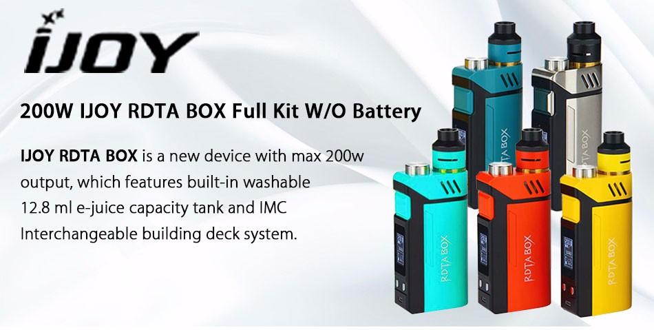 Original IJOY RDTA BOX Mod 0W +12.8ml Large e-juice Tank Atomizer & RDTA BOX MOD & IMC-3/IMC-Coil 3 Coils e-Cigarette 2