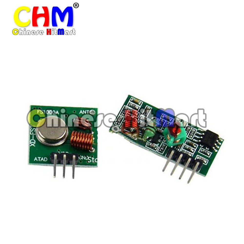 10 pair 433Mhz RF transmitter receiver link kit Arduino Remote Control 433Mhz RF transmitter receiver Module #J339-a