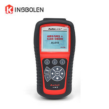 Original Autel Autolink AL619 ABS/SRS + CAN OBDII Diagnostic Scan Tool Turn off Check Engine Light clears codes resets monitors(China)