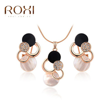 ROXI Women Necklace Clouds Rose Gold Oil Drop Crystal Necklaces & Pendants Bijoux Femme Statement for Women(China)