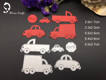 METAL CUTTING DIES 5pc vehicle car truck traffic sign album card frame Scrapbook album embossing stencil paper craft punch