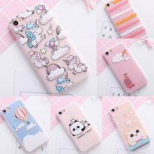 Cute  Colorful Flower unicorn cover case for iphone 5 5S SE 6 S 6S plus soft silicon cat panda cases for iphone 7 7plus capa