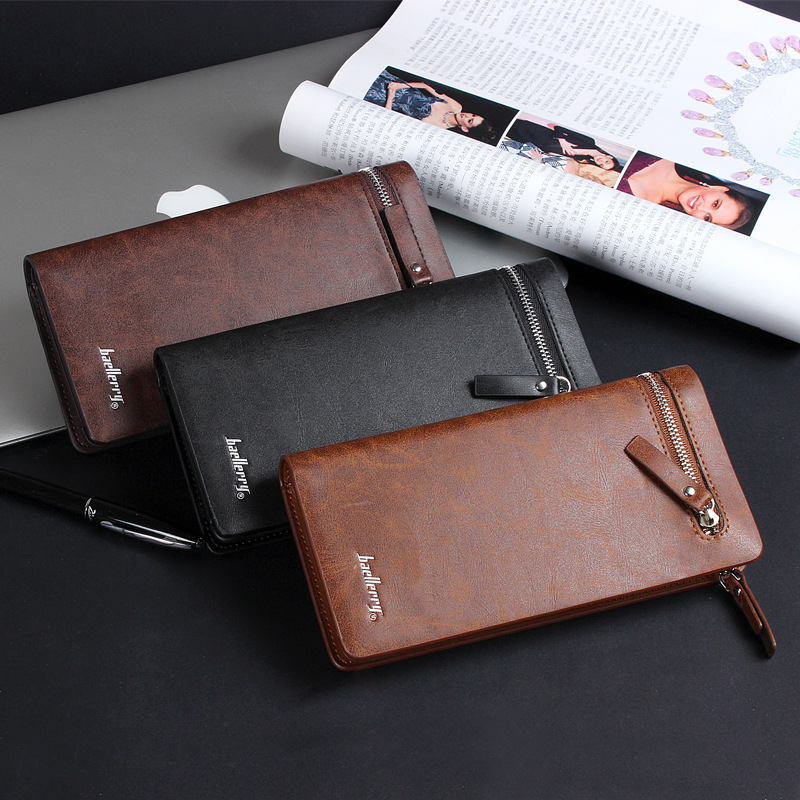 Free Shipping 2016 new business wallet mens long zipper purse PU Leather section of the multicard handbag C08-16<br><br>Aliexpress