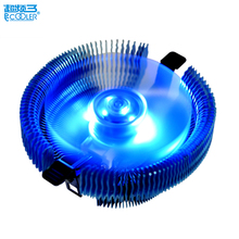 PCCooler CPU cooler LED 4pin intelligent speed quiet fan for AMD AM2 AM3 FM Intel 775 115x computer PC cpu cooling radiator fan