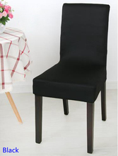Black Colour Spandex lycra chair cover fit for square back home chairs wedding party home dinner decoration Half cover