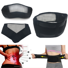 Adjustable Tourmaline Self-heating Magnetic Therapy Waist Belt Lumbar Support Back Waist Support Brace Double Banded faja lumbar(China)