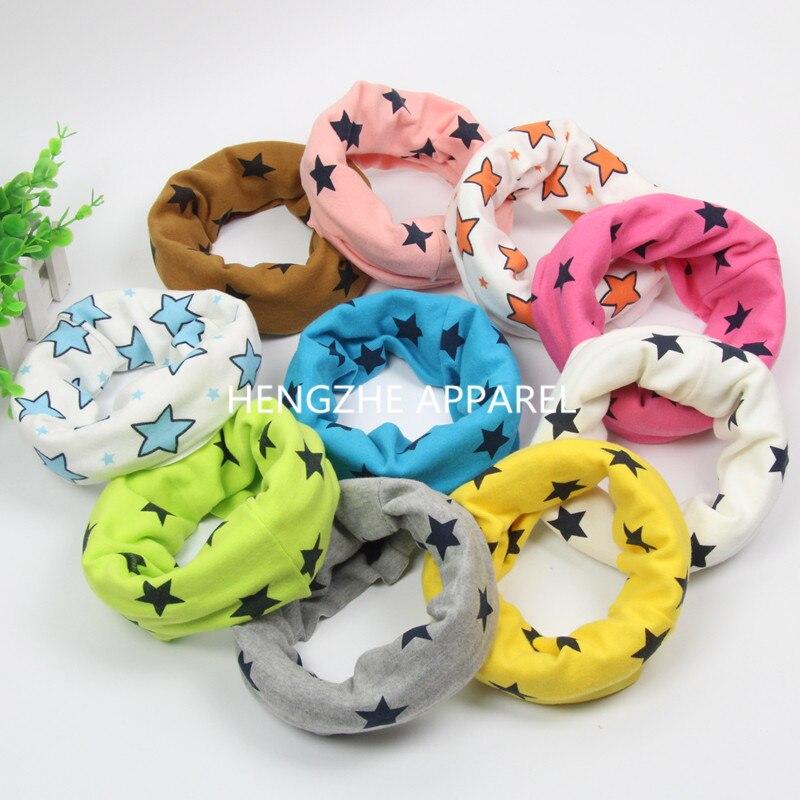 new cotton feet star fishbone cartoon baby scarf O ring kids collars winter warm children neckwear accessories wraps beanie
