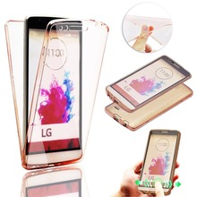 Luxury Transparent TPU Silicone Crystal Clear Ultra Slim 360 for LG G5 Cases LG G3 G4 g5 Case Shockproof Full Cover Phone Cover