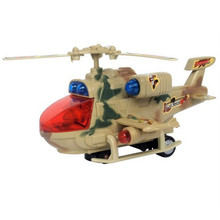 Camouflage Helicopter Planes Aircraft Model Toy With Music Electric Light Plastic  Aircraft Model Toy