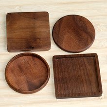 wholesale 6 pcs/lot Solid wood Coaster F001025 walnut wood Placemats Natural Style No paint No wax Boutique Luxury customizable