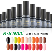RS one step uv gel lucky soak off unhas de gel nail polish set of nail lacquers varnish professional gel varnish 3 in 1 China(China)