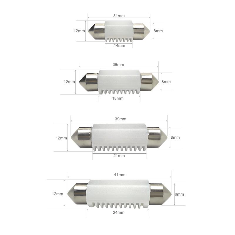 CNSUNNYLIGHT 4pcs C5W LED Car Festoon 31mm 36mm 39mm 41mm Dome Interior Reading Light Map Lamp License Plate Bulb DC 12V 24V Error Free (16)