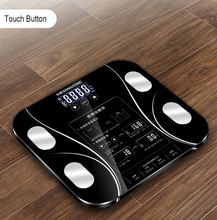 Hot 13 Body Index Electronic Smart básculas baño cuerpo grasa b mi báscula Digital peso humano mi báscula piso lcd(China)