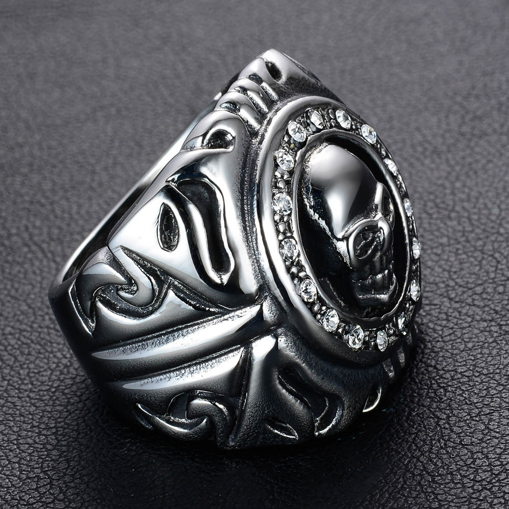 แหวนโคตรเท่ห์ Code 015 แหวนพังก์ Biker สแตนเลส4