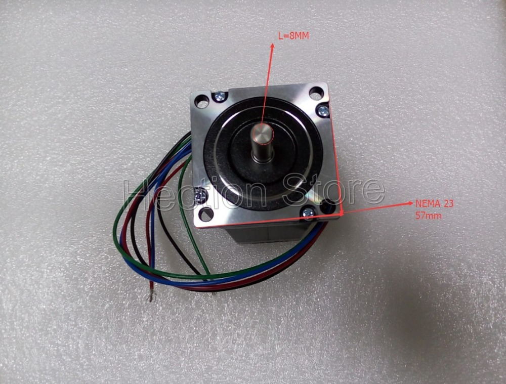 New product Wholesale 3 pcs a lot Hection 57HS22-A stepper motor nema 23 out 2.2NM (312OZ) 4 wire save costs cnc stepper system<br>