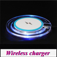 50set/lot * QI Wireless Charger Charging Pad Blue Light Crystal Q10 For Samsung Galaxy S7 S6 edge S5 Note 5 4 3 LG Google iphone