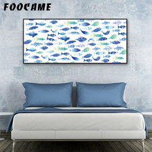 FOOCAME Marine Animal Fish Posters and Prints Art Canvas Painting Modern Home Decoration Wall Pictures For Living Room Bedroom