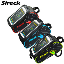 "Sireck Mountain Road Bike Bag Touchscreen 6"" Phone Case Top Front Frame Tube Bicycle Bag Cycling Saddle Bag Bike Accessories"